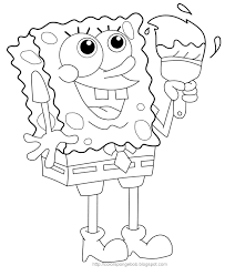 spongebob color sheets 6311 1600 1416 free coloring kids area