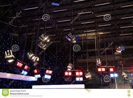 grid lights inside the tv studio stock photo image 78429716