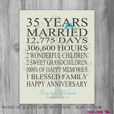 35 year anniversary gift personalized anniversary gift family marriage our story dates