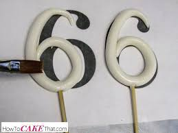 cake topper numbers how to make a stand up number topper how to cake that