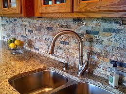 Recycled Granite Split Stone Backsplash - Recycled backsplash