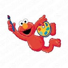 elmo painting sesame iron ons your one stop iron on transfer decal