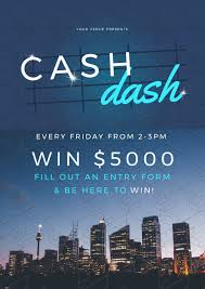 cash dash win money promotional template