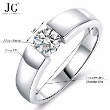 white zircon rings images Couple wedding ring charm jewelry wholesale 925 sterling silver jpg