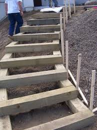 the 2 minute gardener photo landscape timber stairs landscape