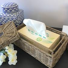 Wicker Desk Accessories by Rattan Tissue Box Cover Home Decor Bathroom Hampton U0027s Coastal Ebay