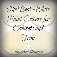 the best white paint colours for cabinets and trim with benjamin