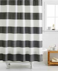 Shower Curtain Striped Black And White Striped Shower Curtain Inspect Home