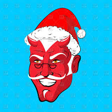 blue santa hat satan in santa hat on blue background vector image 143577 rfclipart