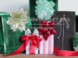 How To Wrap Wedding Gifts - how to make a gift bag gift wrapping basics youtube