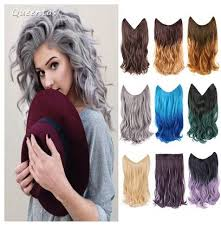 secret hair extensions queentas women 14 inch secret hair extension highlight powdery