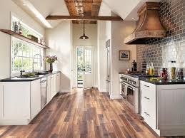gray floor tile shaker cabinet wine rack white cabinets black