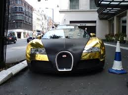 golden bugatti cars