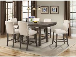 Pub Dining Room Tables Elements International Jax Rustic Counter Height Dining Set