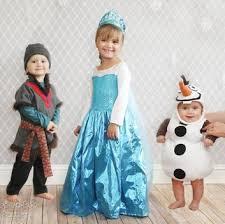 Elsa Frozen Halloween Costume Free Olaf Elsa Kristoff Frozen Inspired Halloween Costume