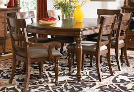 8 Pc Dining Room Set Brown Cherry Finish Traditional 8pc Dining Room Set