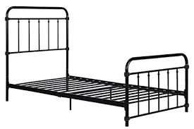 amazon com wallace metal bed frame in black with vintage