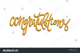congratulation poster congratulation card vector phrase stock vector
