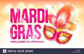 pink mardi gras mask pink vector mardi gras banner template with carnival mask and
