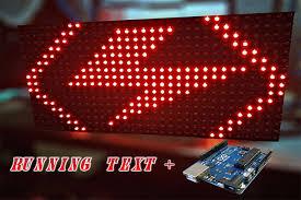 membuat teks berjalan menggunakan html membuat running text led matrix p10 menggunakan arduino muhilham