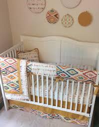 Bedding For A Crib Baby Boy Crib Bedding Set Gold Navy Arrows Bumperless