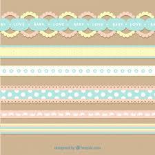 baby ribbon flat baby ribbon set vector free