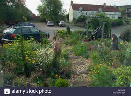 old tarnwell somerset uk des mary payne front garden small dry
