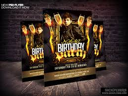 birthday bachelor party flyer template by industrykidz dribbble
