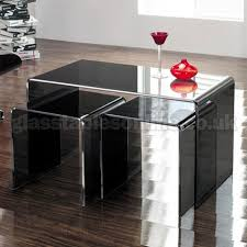buy nest of tables long smoked glass nest of 3 tables by glass tables online