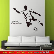 online shop football star wall stickers boy sports home decals online shop football star wall stickers boy sports home decals wall paper sticker paste for kids room decor wall art we are the champions aliexpress