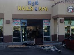 a car crashed into a nail salon near durango drive and el capitan