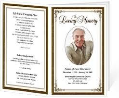 memorial service program memorial service program template optional photo funeral brochure