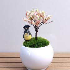 micro mini artificial cherry trees willows figures crafts diy