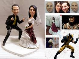 customized cake toppers custom wedding cake toppers figurines wolverine my custom