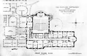 floor plan white house blueprint house plans