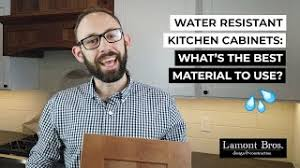 best waterproof material for kitchen cabinets water resistant kitchen cabinets what s the best material