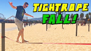 sandaroo family trip tightrope walking fail hollywood baseball