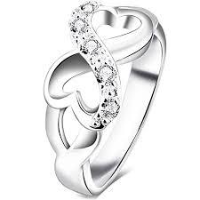 buy fashion rings images Bohg jewelry womens fashion silver plate cubic jpg
