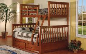Wooden Bunk Bed With Futon Bunk Beds Twin Over Full Bunk Bed With Stairs Full Over Full