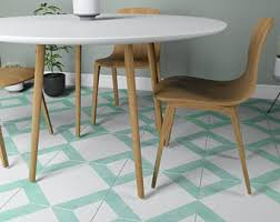 vintage blue grey tile decal floor tile decal bathroom