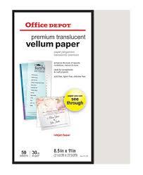 Does Office Depot Make Business Cards Office Depot Brand Premium Translucent Vellum Paper 8 12 X 11 30