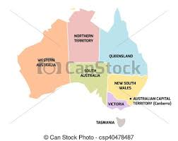 states australia map australia map with states and territories simplified map of