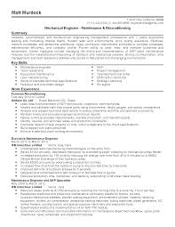Resume Key Skills Examples Professional Maintenance Engineer Templates To Showcase Your
