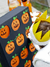 halloween signs for yard halloween party game pumpkin pickin u0027 hgtv