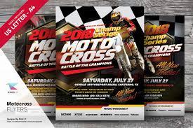 motocross flyer templates flyer templates creative market