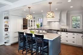 Gray Kitchen Island White Kithen With Gray Island Cabinets In Chevy Dc By Gilday