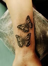 collection of 25 wrist butterflies tattoos