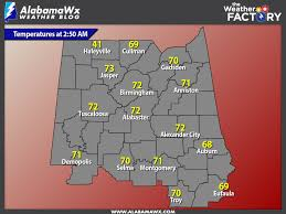 Current Temperature Map Central Alabama Weather Update At 3 00 Am The Alabama Weather Blog