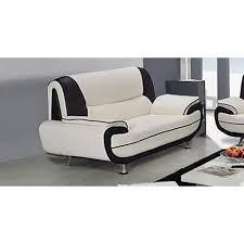 canapé 3 places design canapé 3 places design blanc et noir marita achat vente canapé