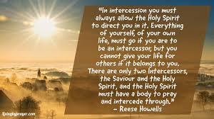 intercession living by prayer